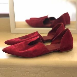 Vince Camuto Italian made red flats
